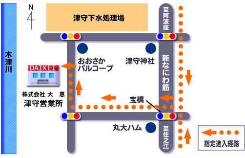 津守営業所地図